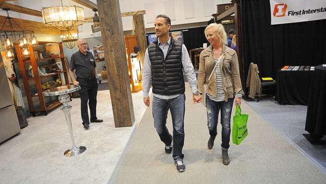 Attendees make their way through the Sioux Empire Home Show in 2016.