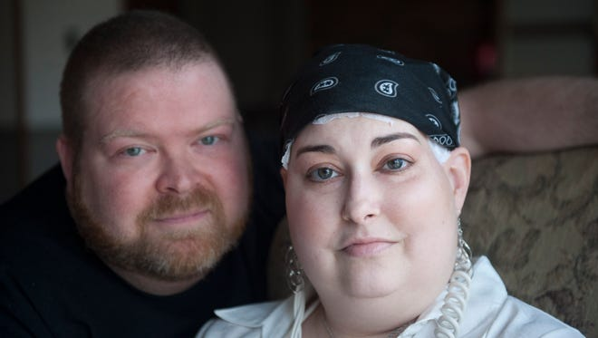 The South Jersey community is helping to raise money for Mike and Maryellen Scharlach of Voorhees. Maryellen is fighting brain cancer while her husband Mike was diagnosed with Cushing's Disease. Thursday, March 10, 2016.
