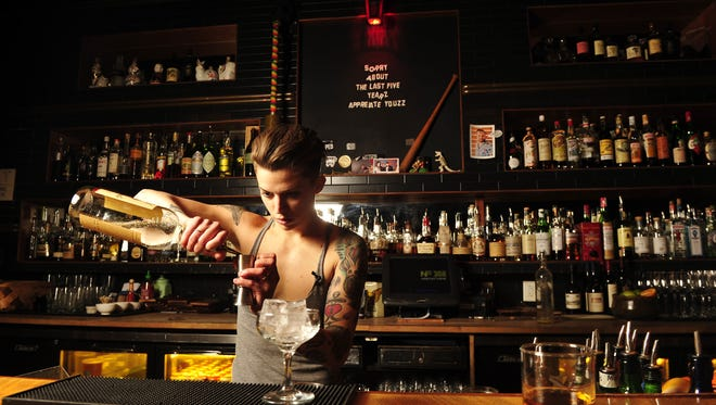Britt Soler, who works magic at bar No. 308 and Old Glory, will compete at Speed Rack.