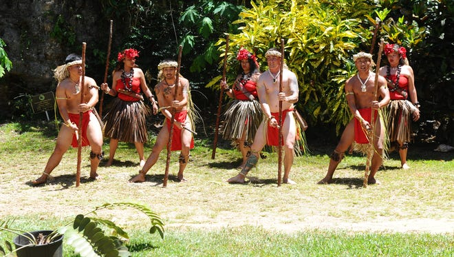 Chamorro dancers perform for Latte of the Valley Adventure Park in Talofofo.