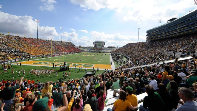 A general view of the field as the Baylor plays Oklahoma at Floyd Casey Stadium in 2012.