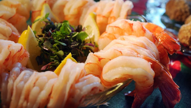 Who likes shrimp? Gourmet delights of all types will be served bhy more than 20 chefs at Corks & Forks, 7 p.m. April 13 at Bankers Life Fieldhouse.