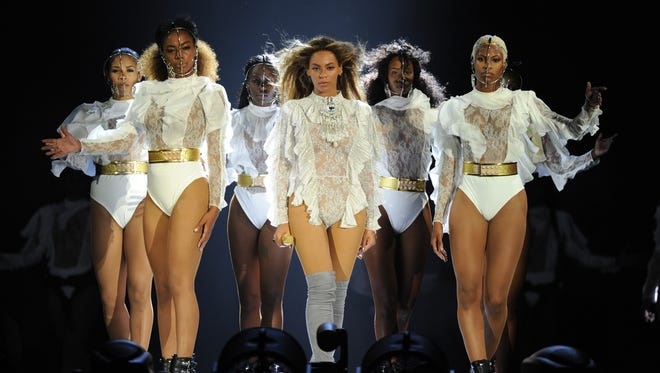 Beyonce performs during the opening night of the Formation World Tour at Marlins Park on April 27, 2016 in Miami, Florida.