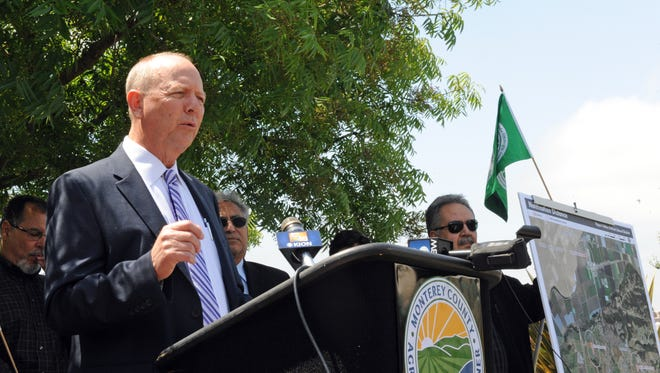 Monterey County Agricultural Commissioner Eric Lauritzen makes a point during Tuesday's press conference in Salinas.