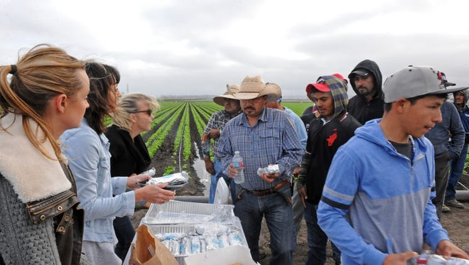 Early on Thursday morning, Labor of Love staff provided a solid breakfast to Tanimura & Antle field workers in the fields between Castroville and Marina.