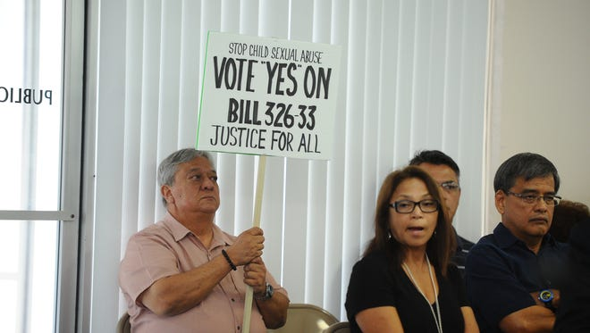 A hearing on Sen. Frank Blas Jr.'s Bill 326-33 began Thursday and featured testimony from people who supported the legislation. Speakers included the younger brother of a man allegedly molested by Archbishop Anthony Apuron.