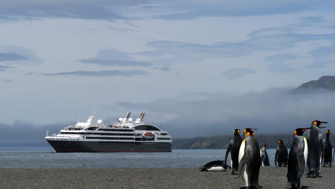 Upscale French line Ponant Cruises' 264-passenger ships cruise the Antarctic region from late November through January.