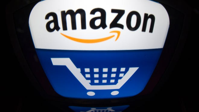 This file picture taken on November 13, 2012 shows shows the Amazon logo.