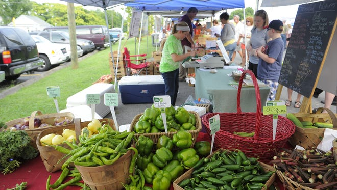 The Hip Donelson Farmers Market, pictured in 2013, is one of several farmers markets around the Nashville area open regularly through the fall.