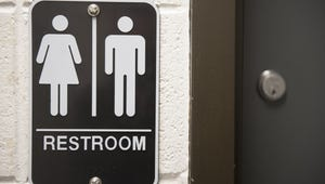 Gender neutral bathroom sign at the Rutgers University–Camden campus in New Jersey on Dec. 2, 2015.