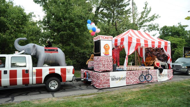 Floats created by employees from Whirlpool, Marion Correctional Institution and Silverline rolled away with awards at the 2016 Marion Popcorn Festival parade. Whirlpool won awards for Best Theme Oriented Use of Popcorn and Best of Parade Crowd Pleaser. More than 100 units were entered in the parade this year.