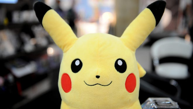 A Pokemon backpack from Nintendo at the Toy Fair 2011 on February 15, 2011 at the Javits Center in New York.