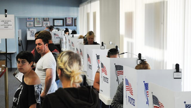Residents cast their vote in this file photo.