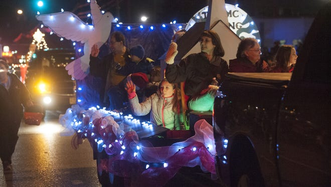 One of the many floats that participated in the 2016 annual Millville Christmas Parade on Friday night.
