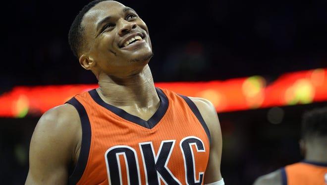 Oklahoma City Thunder guard Russell Westbrook (0) has been really good to start the season.