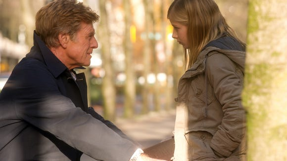 Robert Redford and Jackie Evancho as Isabel Grant in