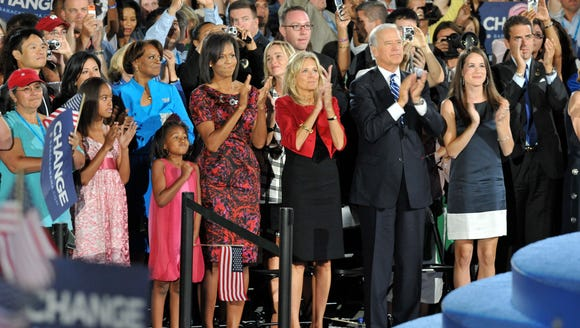 The Obamas and Bidens at the 4th day of the Democratic