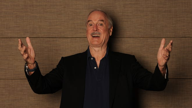 John Cleese welcomes all kinds of questions, including the tough ones, from Monty Python fans during his appearance Monday at the Weidner Center.