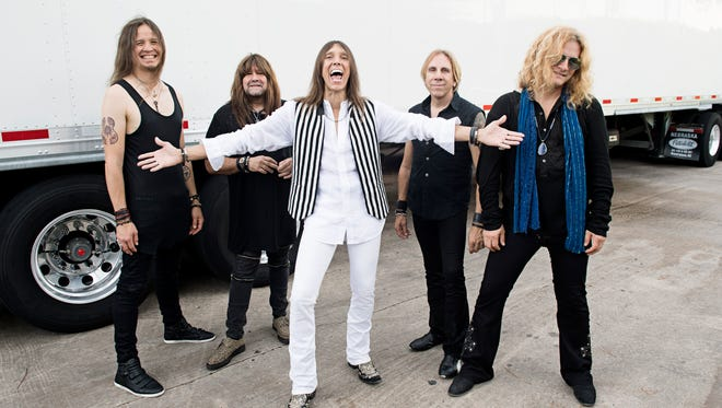 Rock band Tesla will play at FireKeepers in February. Drummer Troy Luccketta is second from right.