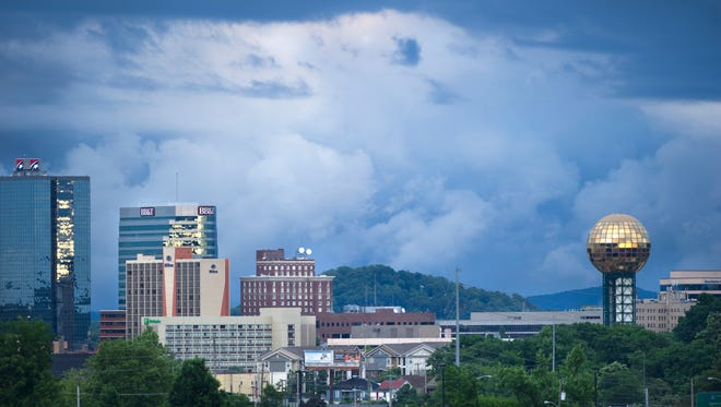 Knoxville skyline, May 15, 2014. (Paul Efird/News Sentinel)