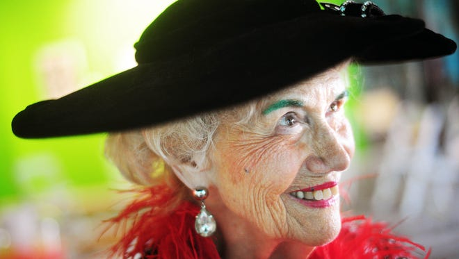 Roy Helen Ackers celebrates her 91st birthday with over 300 hundred of her friends and admirers during her party in 2012 at the Center for Contemporary Arts.