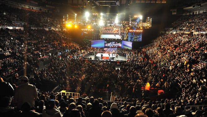 WWE Royal Rumble at Joe Louis Arena  in Detroit, Michigan  on January 25, 2009.