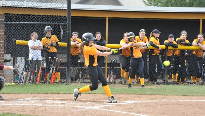 Alexus Burkhart is the Lady Eagles' lead-off hitter and a big reason why they're in contention for the N10 title again.