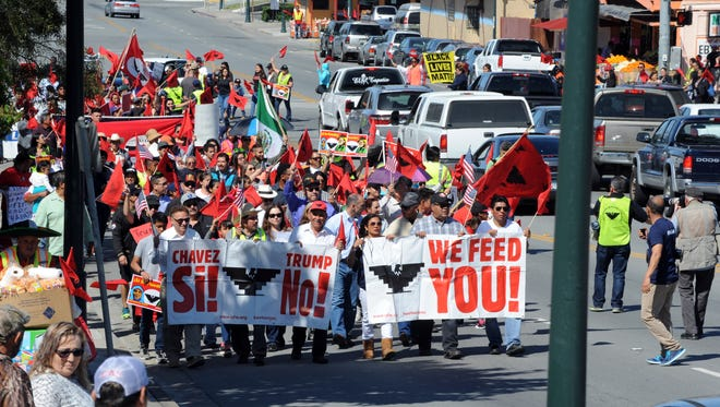 Scenes from the 2017 César Chávez March in Salinas, CA.