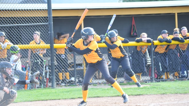 Sydney Studer not only dominated on the mound, but hit a pair of three-run home runs in the Lady Eagles' 20-2 win over Mohawk.