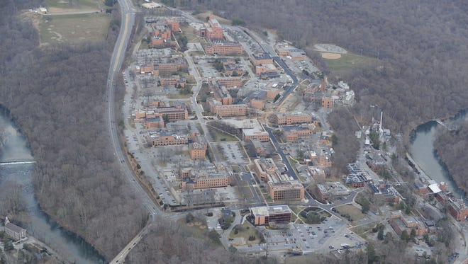 Aerial photo of the DuPont Experimental Station from 2013.