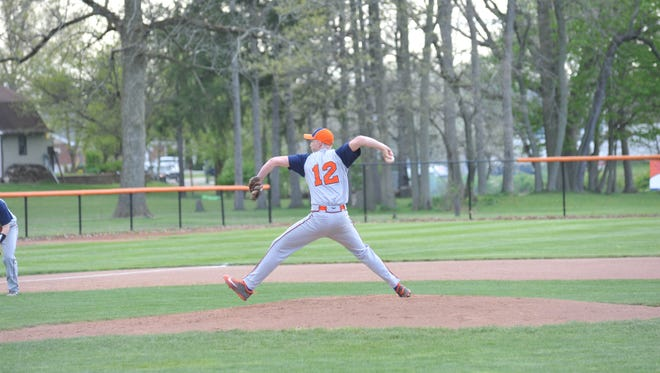 Galion's Mac Spears pitched a complete game in the loss to Clear Fork, allowing just two earned runs even though the Colts scored seven.