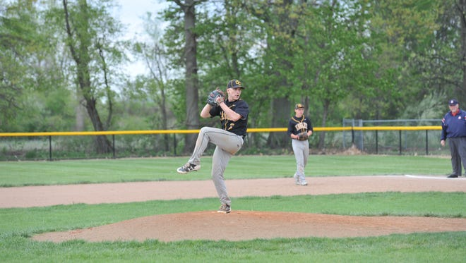 Noah Thoman pitched a strong five innings for the Eagles allowing just two runs.