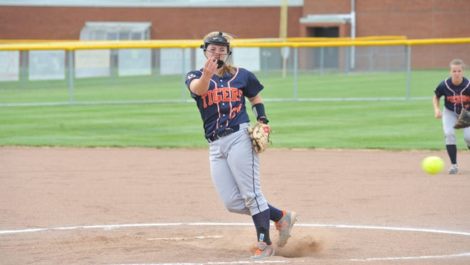 Madelyn Thomas allowed just two hits in her team's 10-0 win over Willard in the district semifinal.