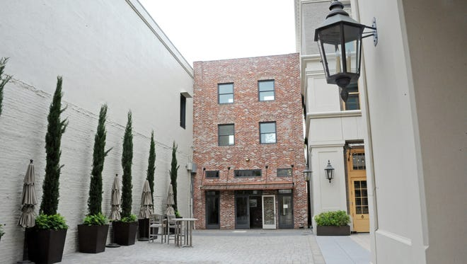 A view of the back entrance to Steinbeck Real Estate's new offices, as seen from the courtyard of the Taylor Building in Oldtown Salinas.