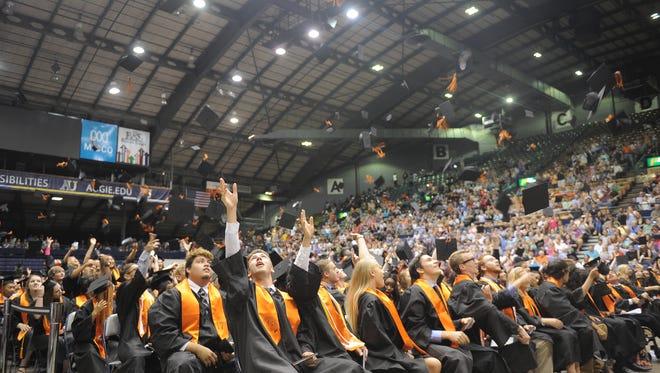 Washington High School graduation ceremony, June 4, 2017 at the Sioux Falls Arena.