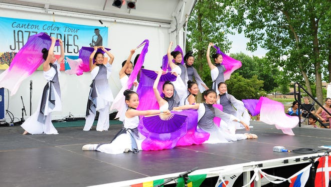 Dancers from Interaction Dance Group perform Saturday afternoon at the Canton Liberty  Fest.
