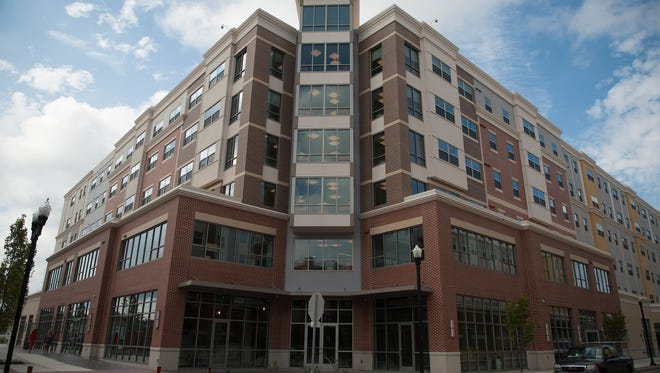 Student housing is part of a $450 million redevelopment project in Glassboro.