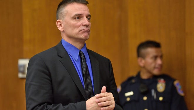 Eric Reamy addresses the court before his sentencing in Judge Susan J. Steele's court on Sept. 30, 2016.