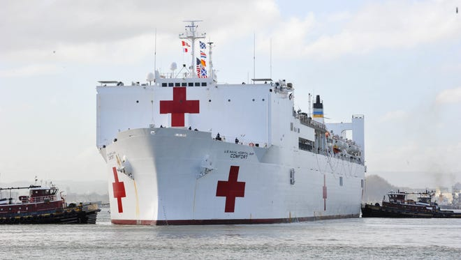 Gerald Butch of Cape Coal is among the crew members of the USNS Comfort hospital ship which arrived Monday in Puerto Rico to assist with Hurricane Maria relief efforts