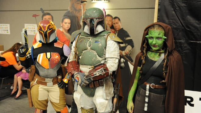 Members of the Mandalorian Mercs Costume Club were on hand at this years Star Wars Reads Day event held Saturday.