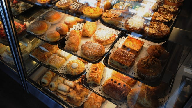 Baked delights tempt customers at Natas Pastries in Thousand Oaks.