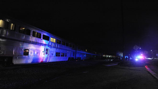 An Amtrak train stopped in Salinas as authorities investigate an incident along the tracks.