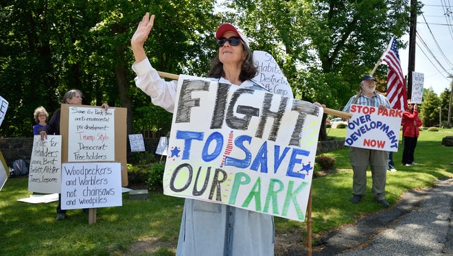 A plan to build a disc golf course in Rifle Camp Park was met with much opposition.