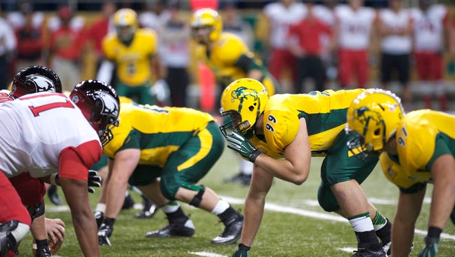 Nate Tanguay (99) has been a key part of a successful campaign for the North Dakota State football program.