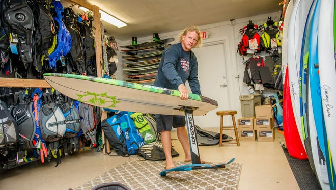 Jupiter Kiteboarding owner Jeremy Green works to stay up with the latest in trends in kitesurfing, and remains a venue for enthusiasts in standup paddleboarding, wake surfing, skim, skateboarding and foil boards.