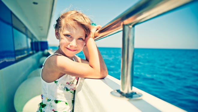 Little girl on a cruise boat.