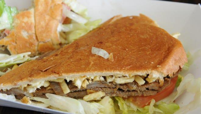 Pan con bistec at Cienfuegos Cuban Cafe in Simi Valley.