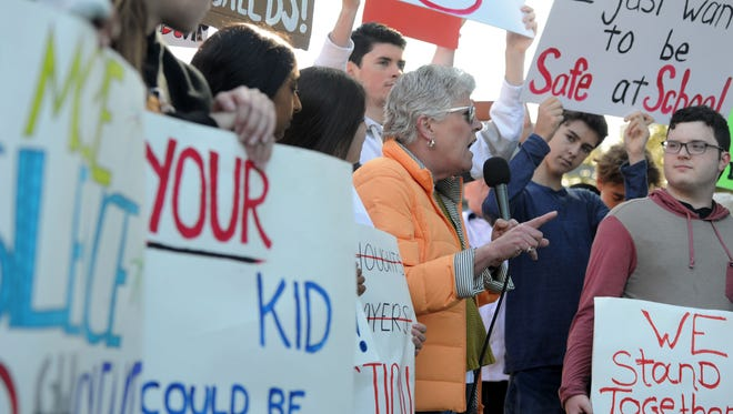 U.S. Rep. Julia Brownley, D-Westlake Village, spoke at the March Four Our Lives Ventura event last month to a crowd of students, parents, teachers, administrators and community members who were taking a stand against gun violence in schools.