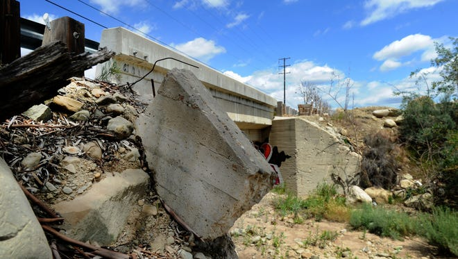 This bridge at 3319 Sycamore Road, west of Fillmore, has been found to be structurally deficient. Two bridges in unincorporated Ventura County have received that rating.