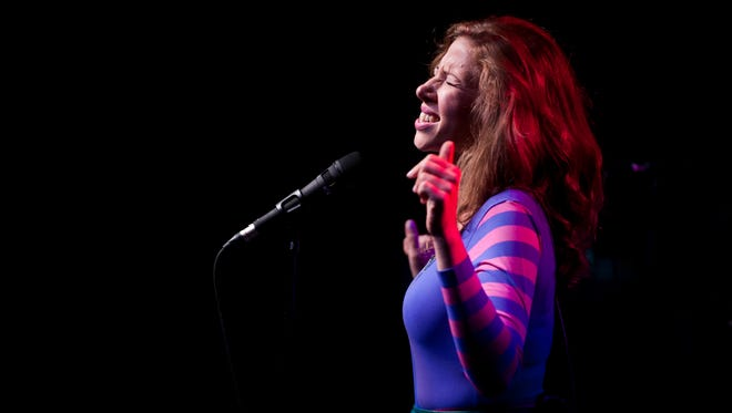Rachael Price of Lake Street Dive performs during the Grand Point North music festival on Saturday September 13, 2014 on the waterfront in Burlington, Vermont.